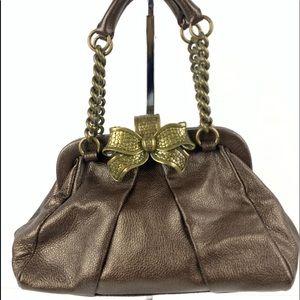 ☮️ Betsey Johnson handbag bronze metallic brass